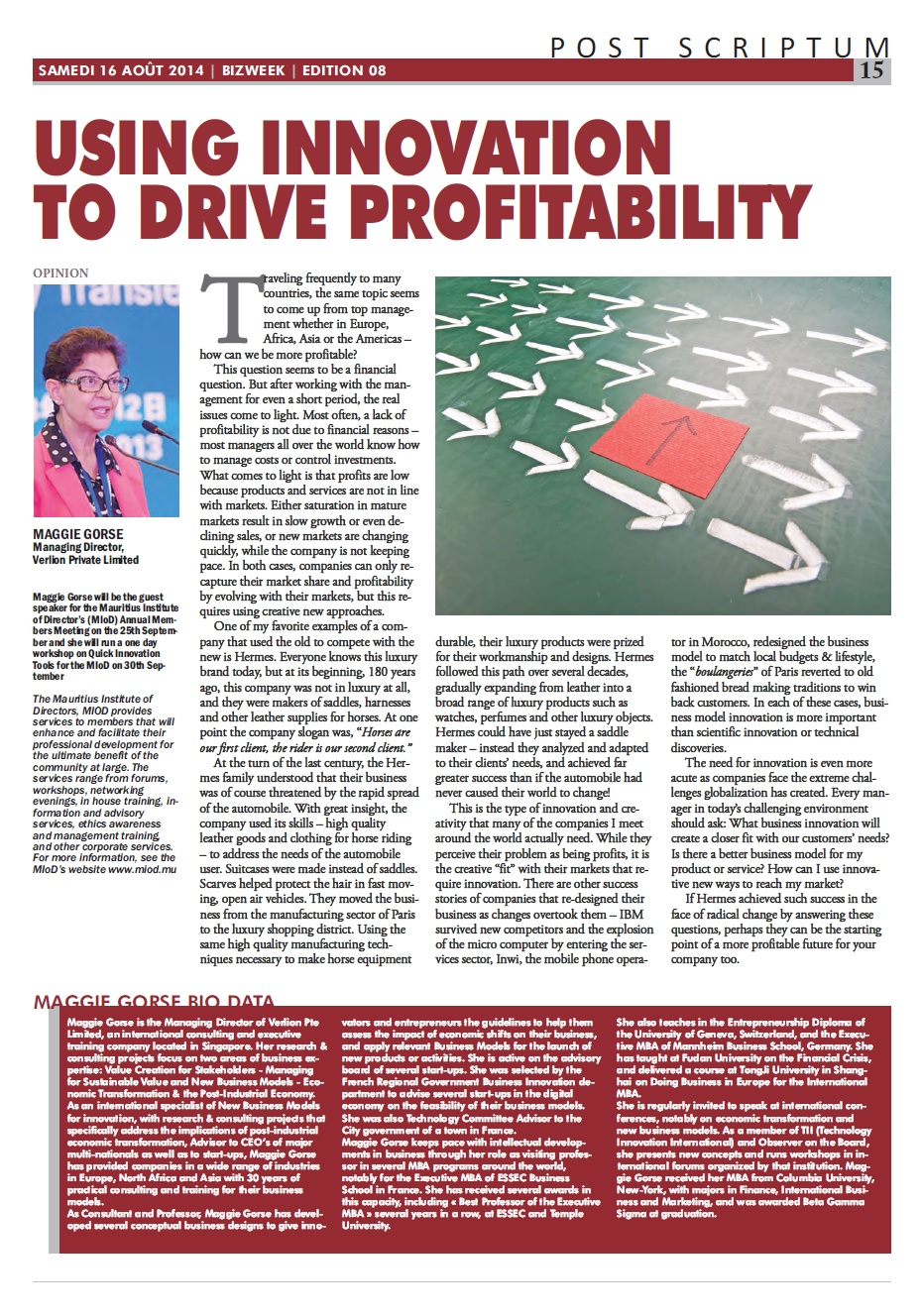 Quick Innovation for Profitability